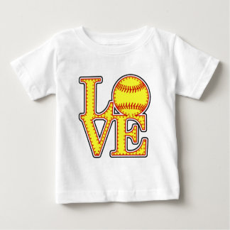 Love Softball Stitch Baby T-Shirt