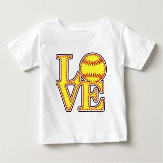 Love Softball Stitch Baby T-Shirt