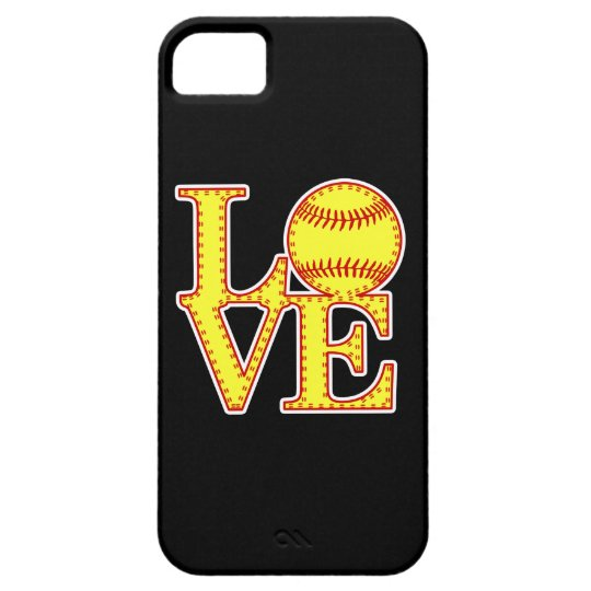Love Softball Stitch iPhone SE/5/5s Case
