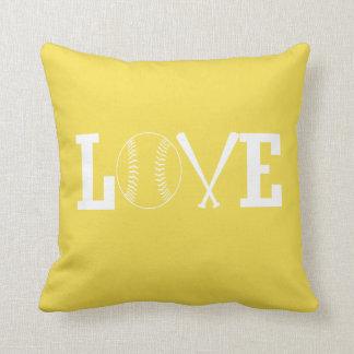 Love softball throw pillow
