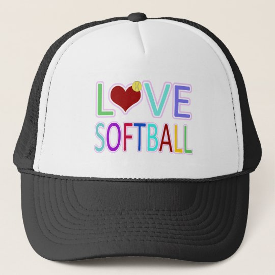 LOVE SOFTBALL TRUCKER HAT