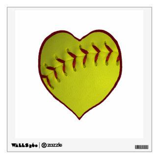 Love Softball Wall Decal