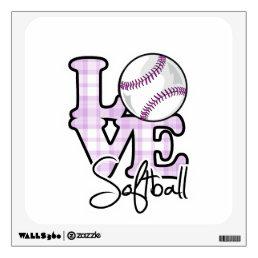 Love Softball Wall Sticker