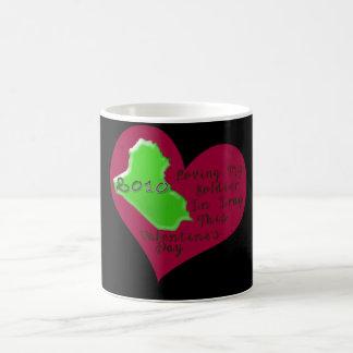 LOVE SOLDIER IRAQ VAL DAY COFFEE MUG