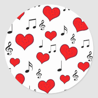 Love song classic round sticker