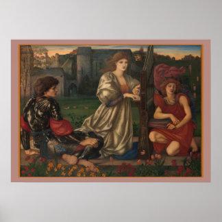 """""""Love Song"""" Edward Burne-Jones Pre-Raphaelite art Poster"""