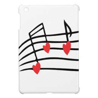 LOVE SONG MUSIC NOTES CUTE RED BLACK WHITE FRIENDS COVER FOR THE iPad MINI
