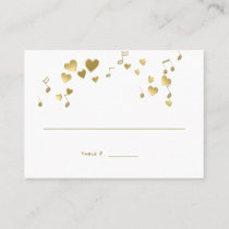 Love Song Music Wedding Place Card