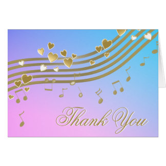Love Song Notes Thank You Stationery Note Card