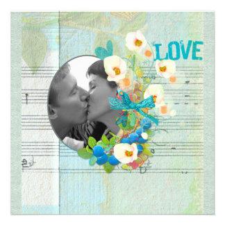 Love Song Photo Frame Scrapbook Style Custom Invites