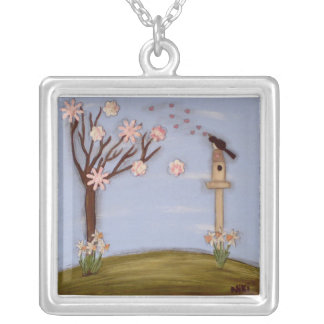 Love Song Silver Plated Necklace