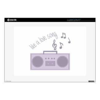 """Love Song 15"""" Laptop Decal"""