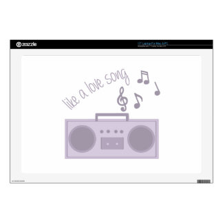 """Love Song Decal For 17"""" Laptop"""