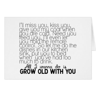 LOVE SONG WANT TO GROW OLD WITH YOU MISS U CARD