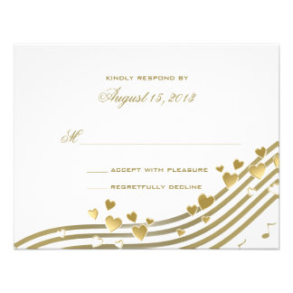 Love Song Wedding Response Card Personalized Invitations