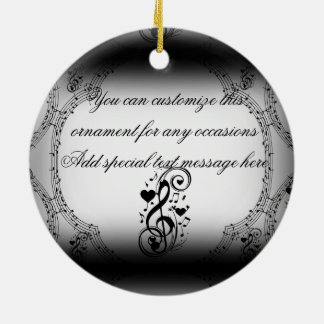 Love Song You Are_ Double-Sided Ceramic Round Christmas Ornament
