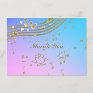 Love Songs Bat Mitzvah Flat Note Card
