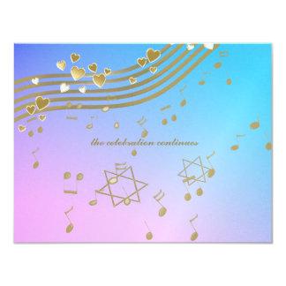 Love Songs Bat Mitzvah Reception Card