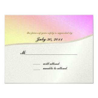 "Love Songs Bat Mitzvah/ Response Card 4.25"" X 5.5"" Invitation Card"