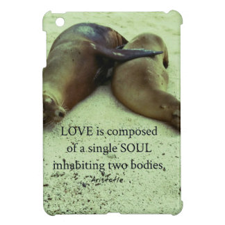 Love soulmates Aristotle quote Cover For The iPad Mini