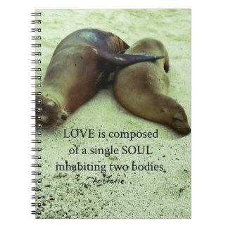 Love soulmates Aristotle quote Notebook