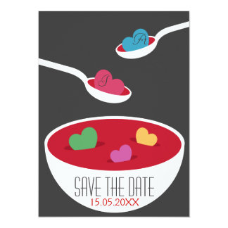 Love Soup Save the Date Custom Announcements