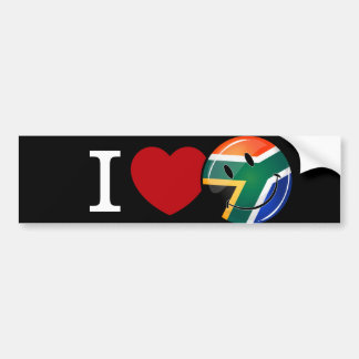 Love South Africa Smiling Flag Bumper Sticker