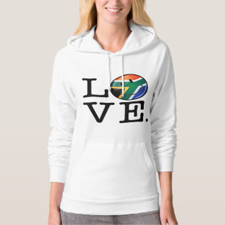 Love South Africa Smiling Flag Hooded Pullover