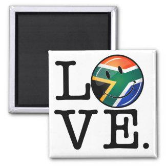 Love South Africa Smiling Flag Magnet