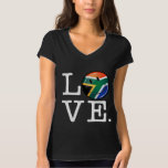 Love South Africa Smiling Flag Tee Shirt