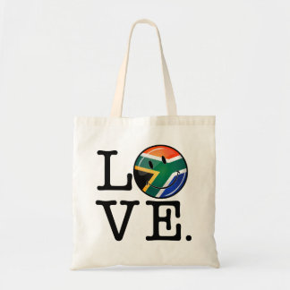 Love South Africa Smiling Flag Tote Bag