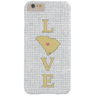 LOVE South Carolina State Map custom heart Barely There iPhone 6 Plus Case