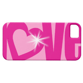 """""""love"""" sparkle pink barely iphone case iPhone 5 case"""