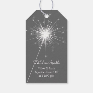 Love Sparkles Gift Tag - gray