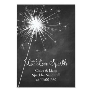 "Love Sparkles Holder 3.5"" X 5"" Invitation Card"
