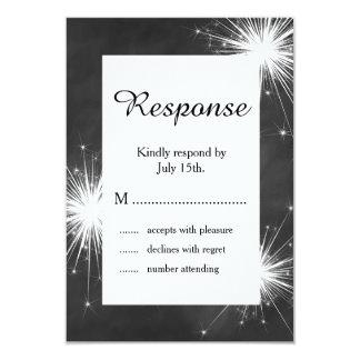 Love Sparkles RSVP 3.5x5 Paper Invitation Card