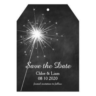 Love Sparkles Save the Date 5x7 Paper Invitation Card