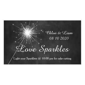 Love Sparkles - Sparkler Tag Double-Sided Standard Business Cards (Pack Of 100)