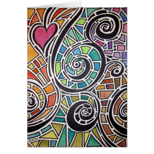 Love Spectrum Original Watercolor Card