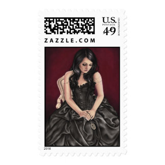 Love Spell Victorian Witch Postage Stamps