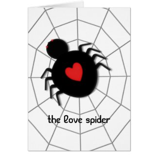 Love Spider Greeting Cards