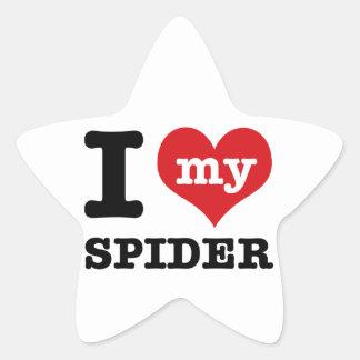 love spider star sticker