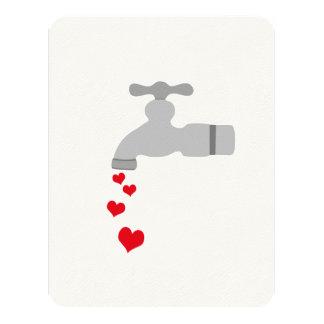 Love Spigot 4.25x5.5 Paper Invitation Card