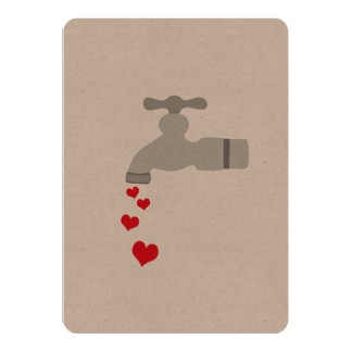 Love Spigot 5x7 Paper Invitation Card
