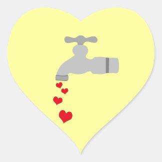 Love Spigot Heart Sticker