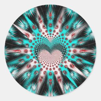 Love Spikes Hypnotic Classic Round Sticker