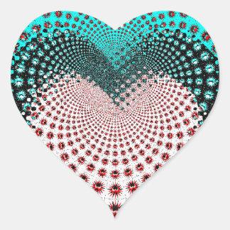 Love Spikes Hypnotic Heart Sticker
