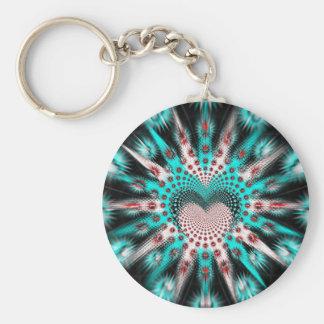 Love Spikes Hypnotic Basic Round Button Keychain