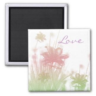 Love - Spring 2 Inch Square Magnet