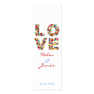 LOVE Spring Flowers Thank You Favors Gift Tag Mini Business Card
